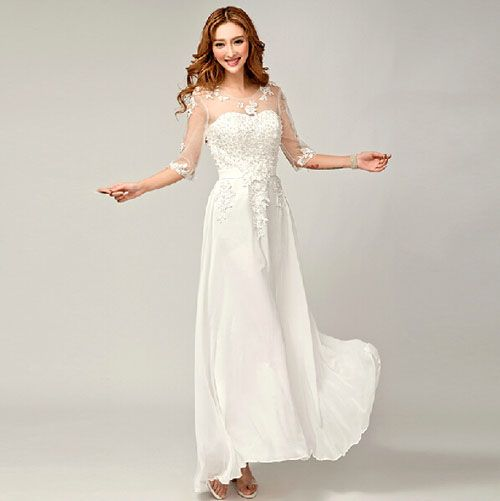 e0d8052395ab9  楽天市場  ウエディングドレス ロング ドレス 二次会 花嫁 長袖 お姫様 豪華な