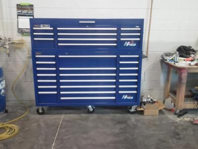 homak h2pro 72in., 21-drawer rolling tool cabinet — blue, 71 5/8in.w ...