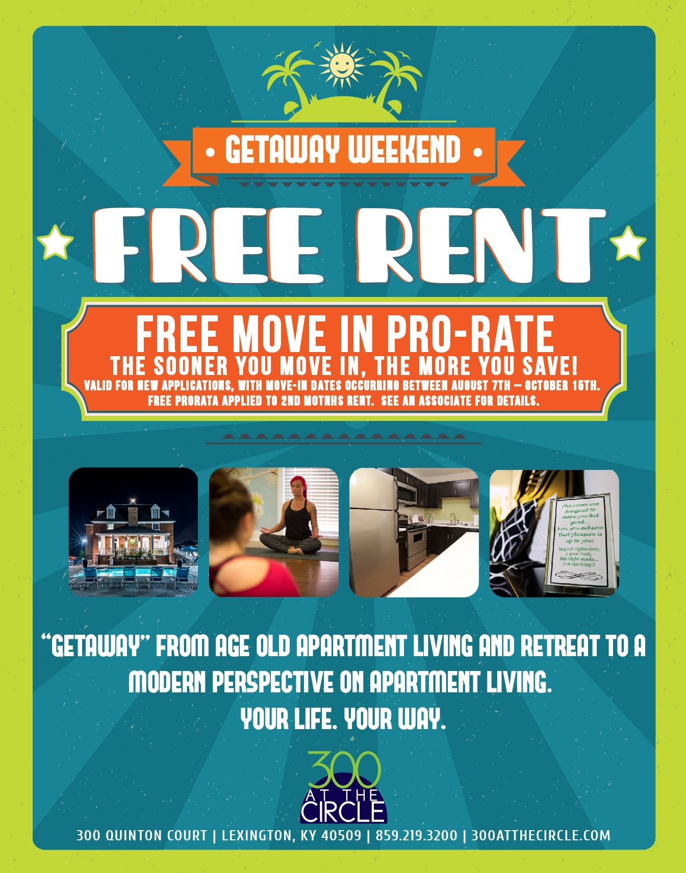 300ATC Free Rent Flyer | Apartment Marketing | Pinterest | Flyers ...