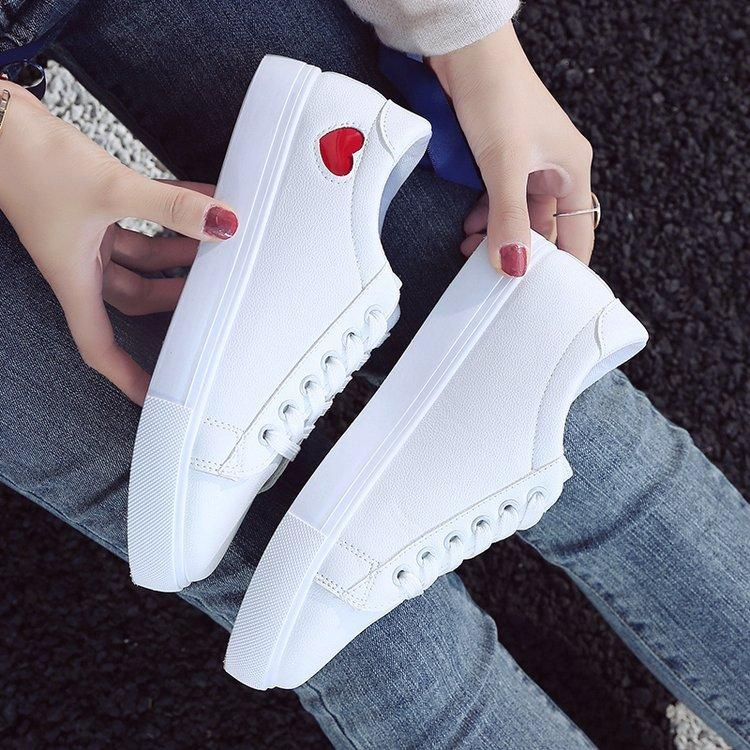 6ca012642fe Women Canvas Shoes White Sneakers Heart Lace-Up Krasovki Tenis Feminino Casual  Shoes Woman Sneakers