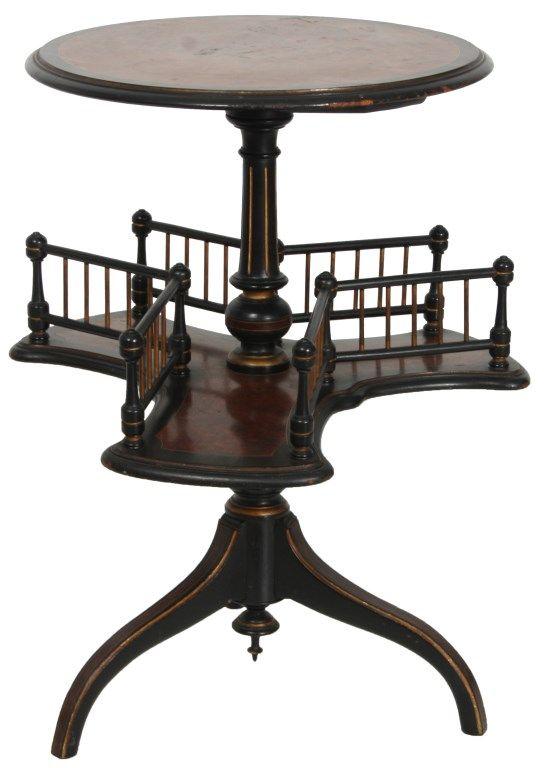 antique english oak arts & crafts desktop revolving bookcase book