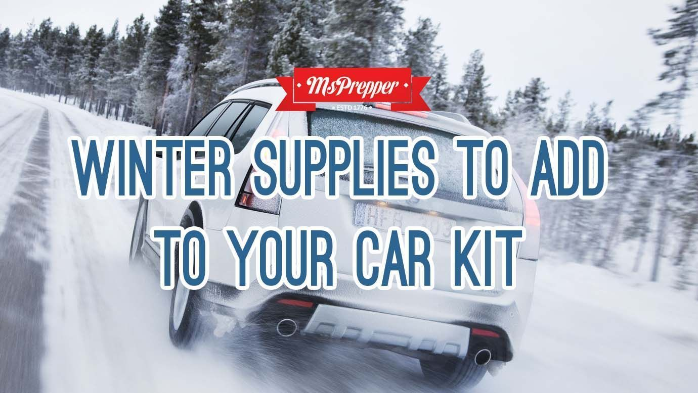 Cold weather is here and it's time to beef up your emergency car kit with winter supplies. Here are some tips to get you started! Winter Supplies to Add to Your Car Kit #Prepping #Preppers #Homesteading #Survival #MsPrepper #wintersurvivalsupplies Cold weather is here and it's time to beef up your emergency car kit with winter supplies. Here are some tips to get you started! Winter Supplies to Add to Your Car Kit #Prepping #Preppers #Homesteading #Survival #MsPrepper #wintersurvivalsupplies Cold #wintersurvivalsupplies