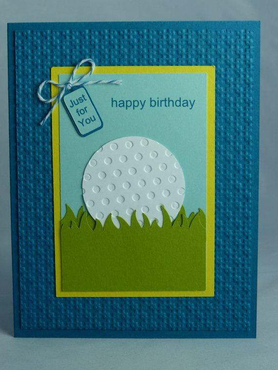 Stampin up handmade greeting card happy birthday card golf stampin up handmade greeting card happy birthday card golf golfing golfer golf club doctor man mens womens ball just for you gift bookmarktalkfo Gallery