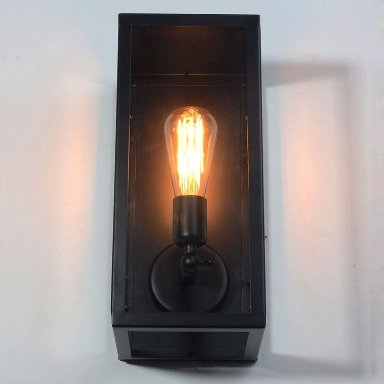 Square Matte Black Single-Light Outdoor Wall Lantern - Outdoor Wall Lights - Outdoor Lighting - Lighting