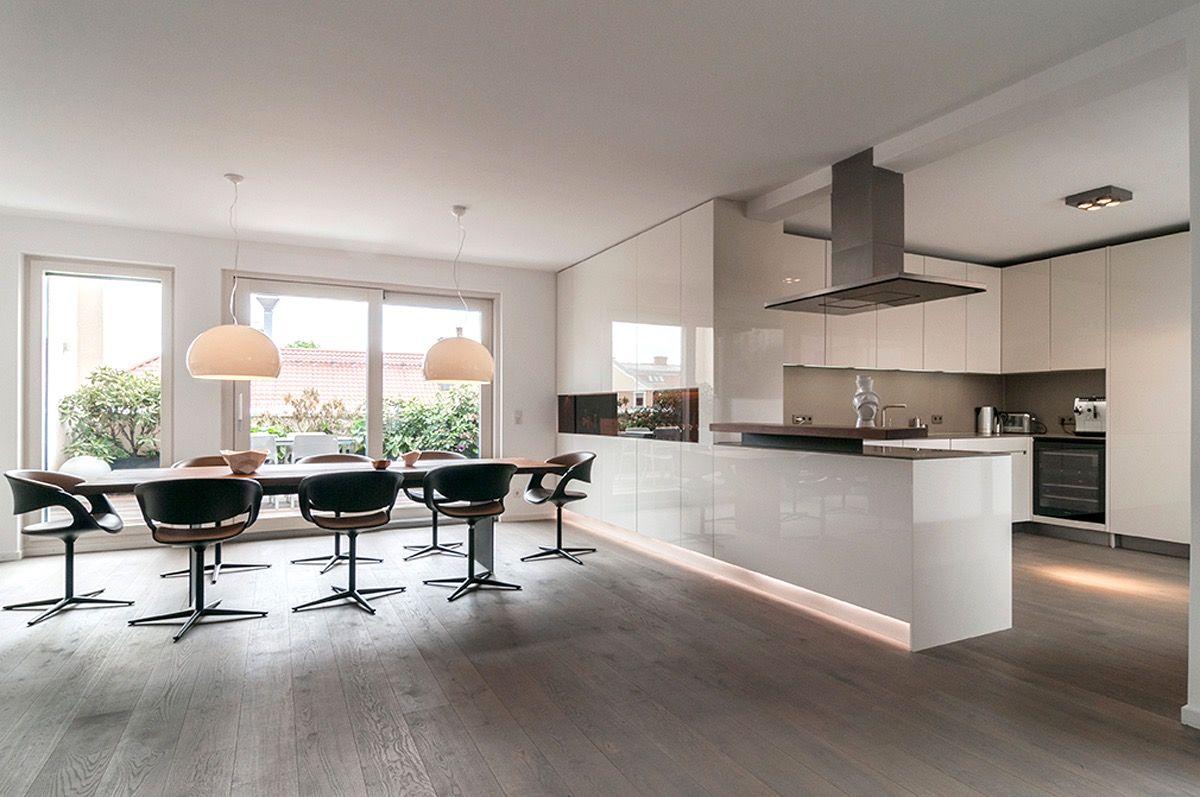 offene kuche mit wohnzimmer ideen, ideen offene küche wohnzimmer   bungalow haus bauen   pinterest, Kuchen