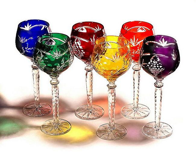 colorful stemware | ... Crystal Gifts, Stemware, Vases, Rare Colors, European Quality