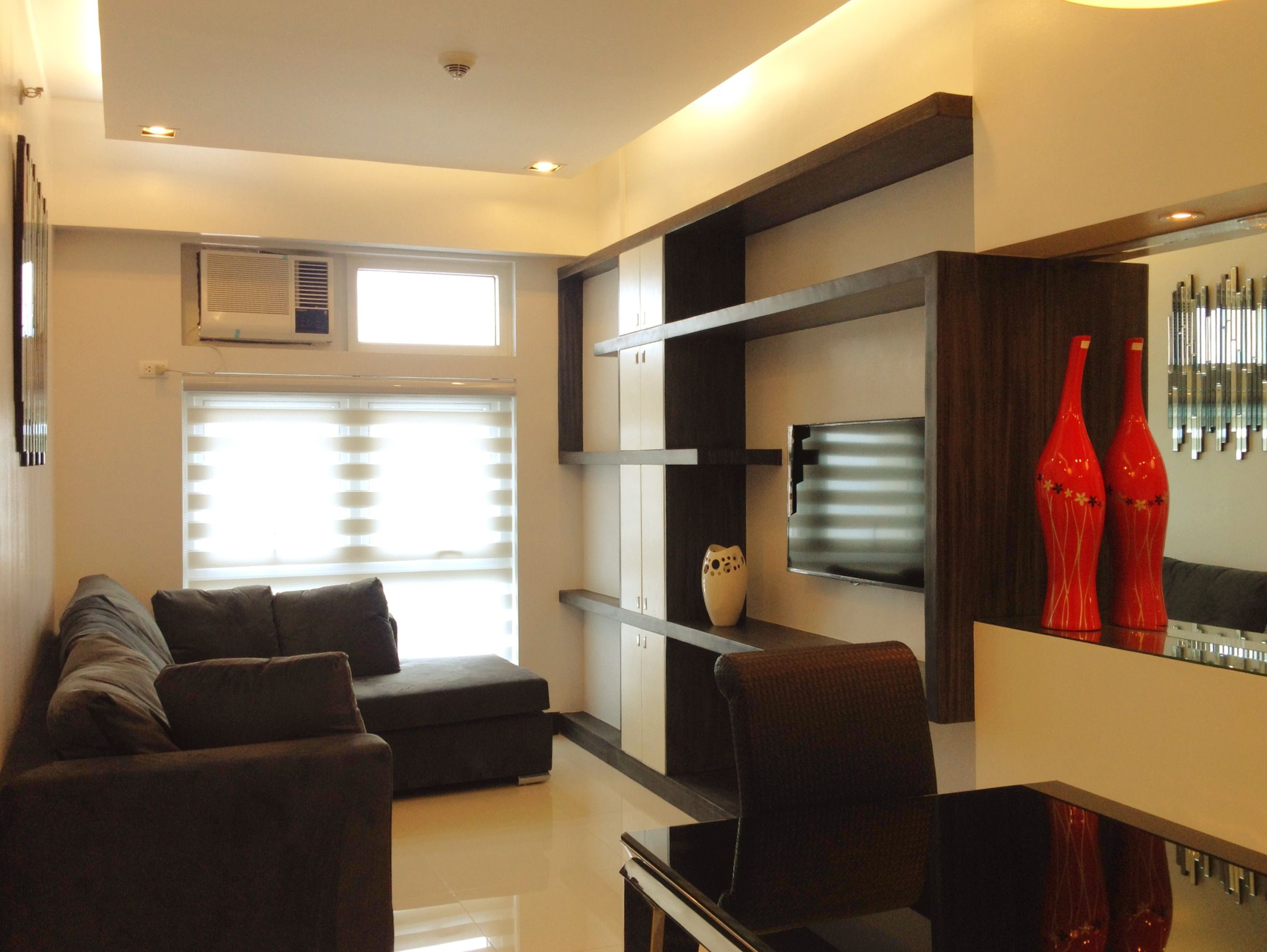 40sqm Condo Unit Living Room Design Small Spaces Interior Design Apartment Small Apartment Interior Design
