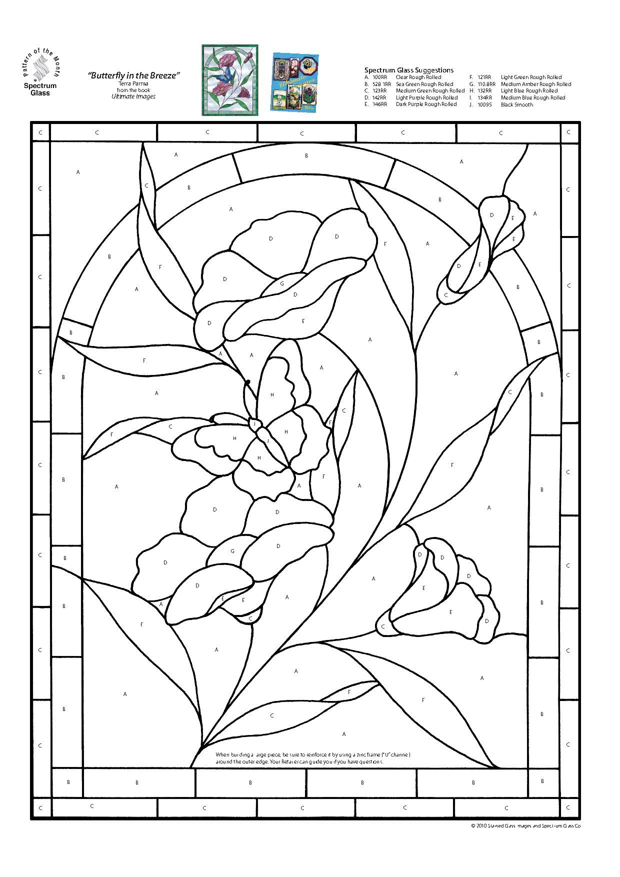 stained glass spectrum pattern pergamano pinterest glass