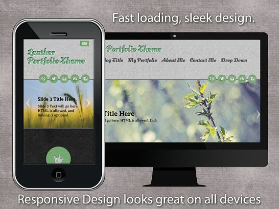 Wordpress Theme with branding options for by PoeDesignscom on Etsy, $25.00