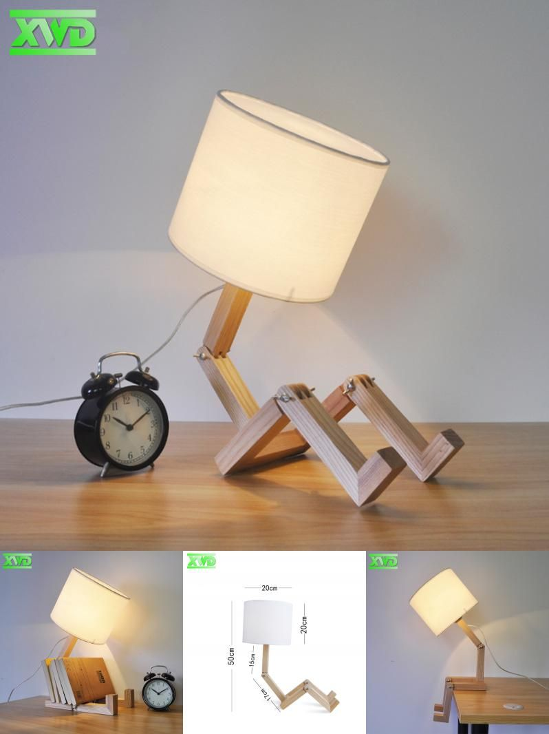 Visit to buy modern robot shape wooden table lamp e27 lamp holder visit to buy modern robot shape wooden table lamp e27 lamp holder 110 geotapseo Choice Image