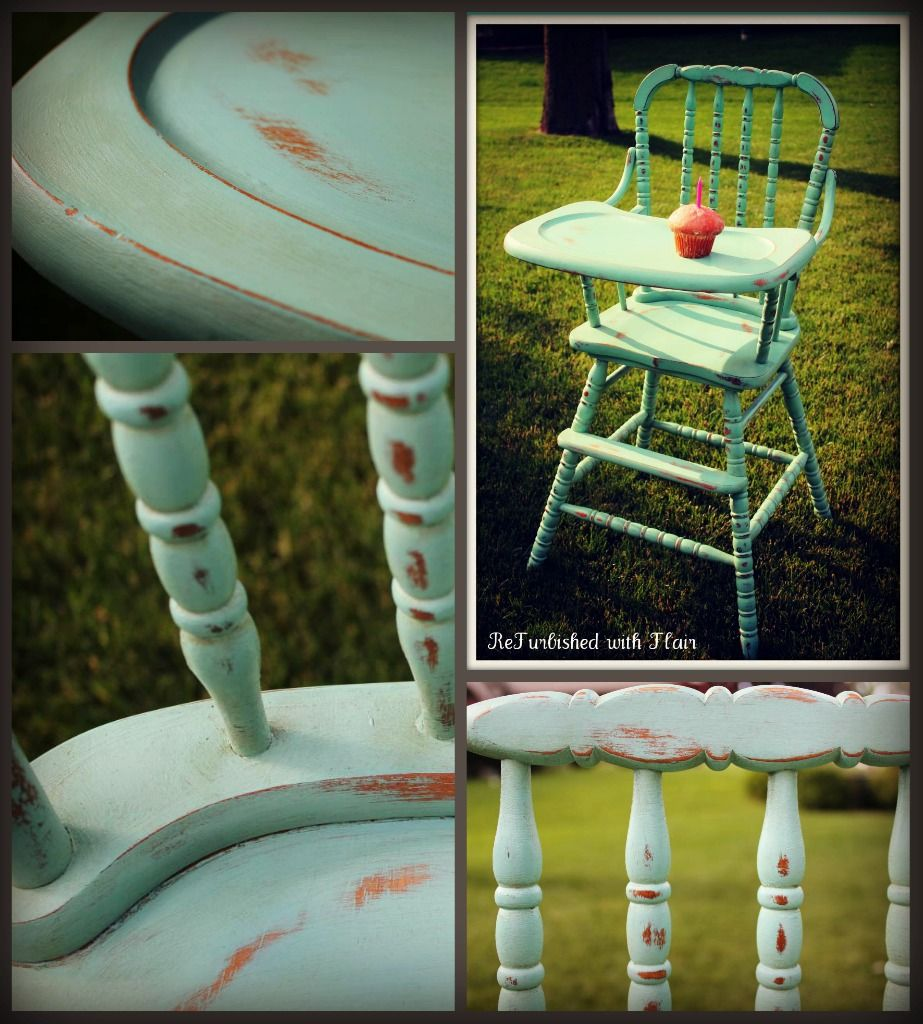 Painted wooden high chair - Custom Jenny Lind High Chair For A Little Girl S 1st Birthday Party Painted In Aqua