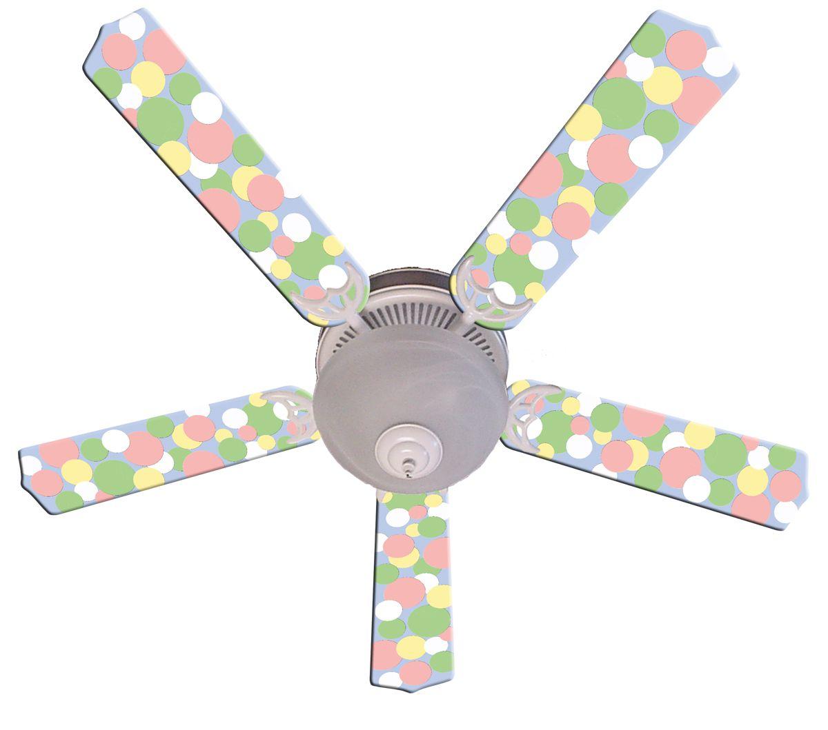 Pastel Dots Ceiling Fan Youth Bedrooms Pinterest Ceiling fan