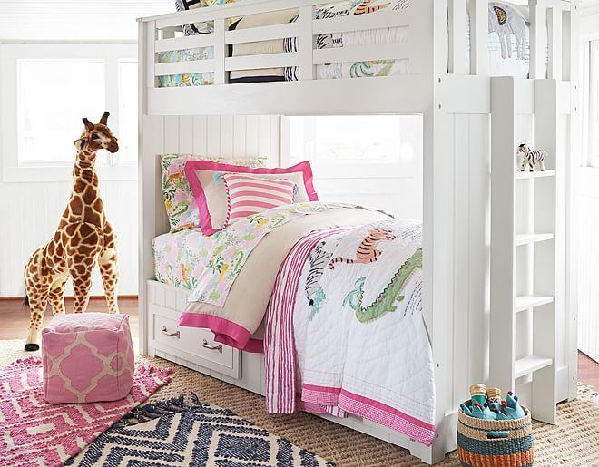 I love the Pottery Barn Kids Shared Safari Bedroom on ...