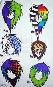 scene hair draw