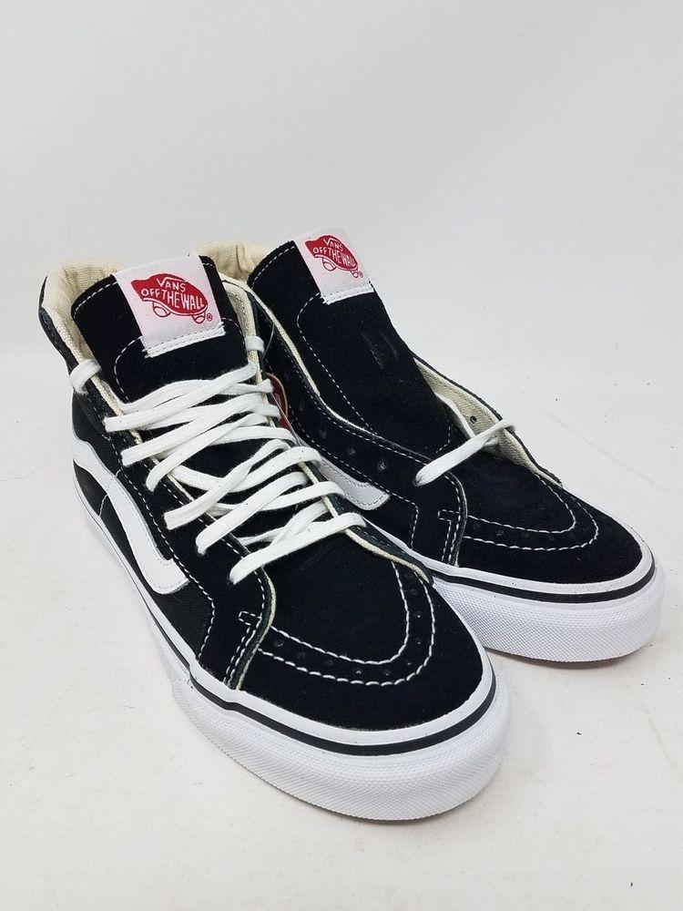 9cc22837c24eab VANS SK8-HI SLIM BLACK WHITE SKATE SNEAKERS MEN S SIZE 3.5 WOMEN S SIZE 5  NWOB  fashion  clothing  shoes  accessories  unisexclothingshoesaccs ...