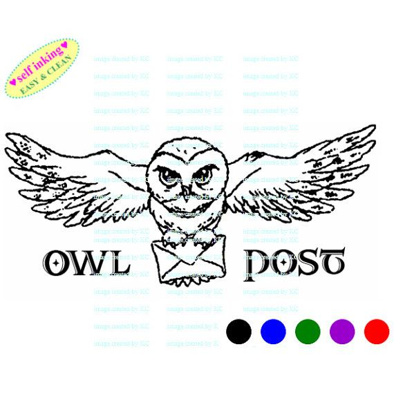 Owl Post Harry Potter Hedwig Owl Post Mail Self Inking Etsy Harry Potter Hedwig Hedwig Owl Owl Post