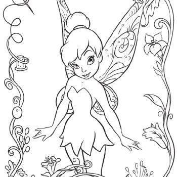 Tinkerbell : Tinkerbell With Vidia Coloring Pages, Tinkerbell The ...