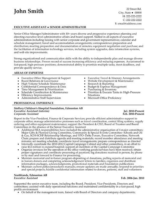 a resume template for senior office manager  you can download it and make it your own