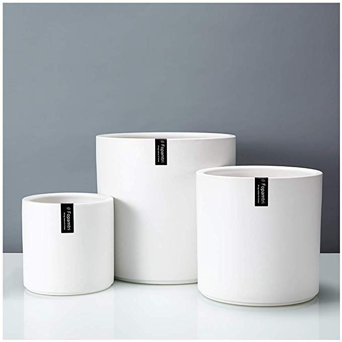 60 5 7 8 5 Amazon Com Plant Pot Set By Fopamtri Matte White Ceramic Planter For Indoor White Ceramic Planter Flower Pots Outdoor Ceramic Planters