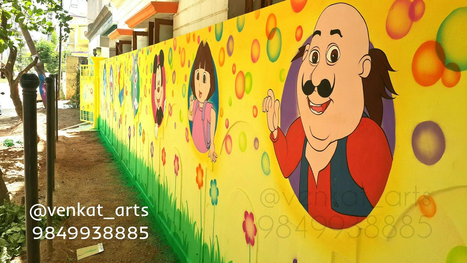 Play School Wall Painting work | Play school wall painting work ...