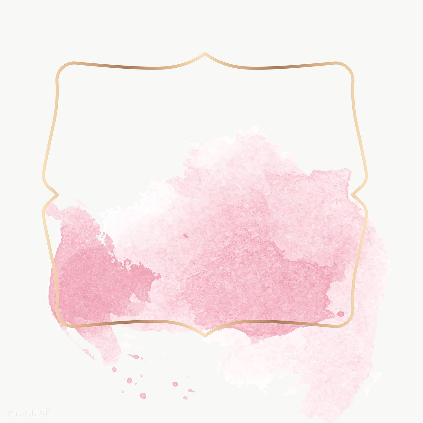 Gold Badge With Pink Watercolor Paint Transparent Png Premium Image By Rawpixel Com Nunny Pink Watercolor Pink Posters Background Design Vector