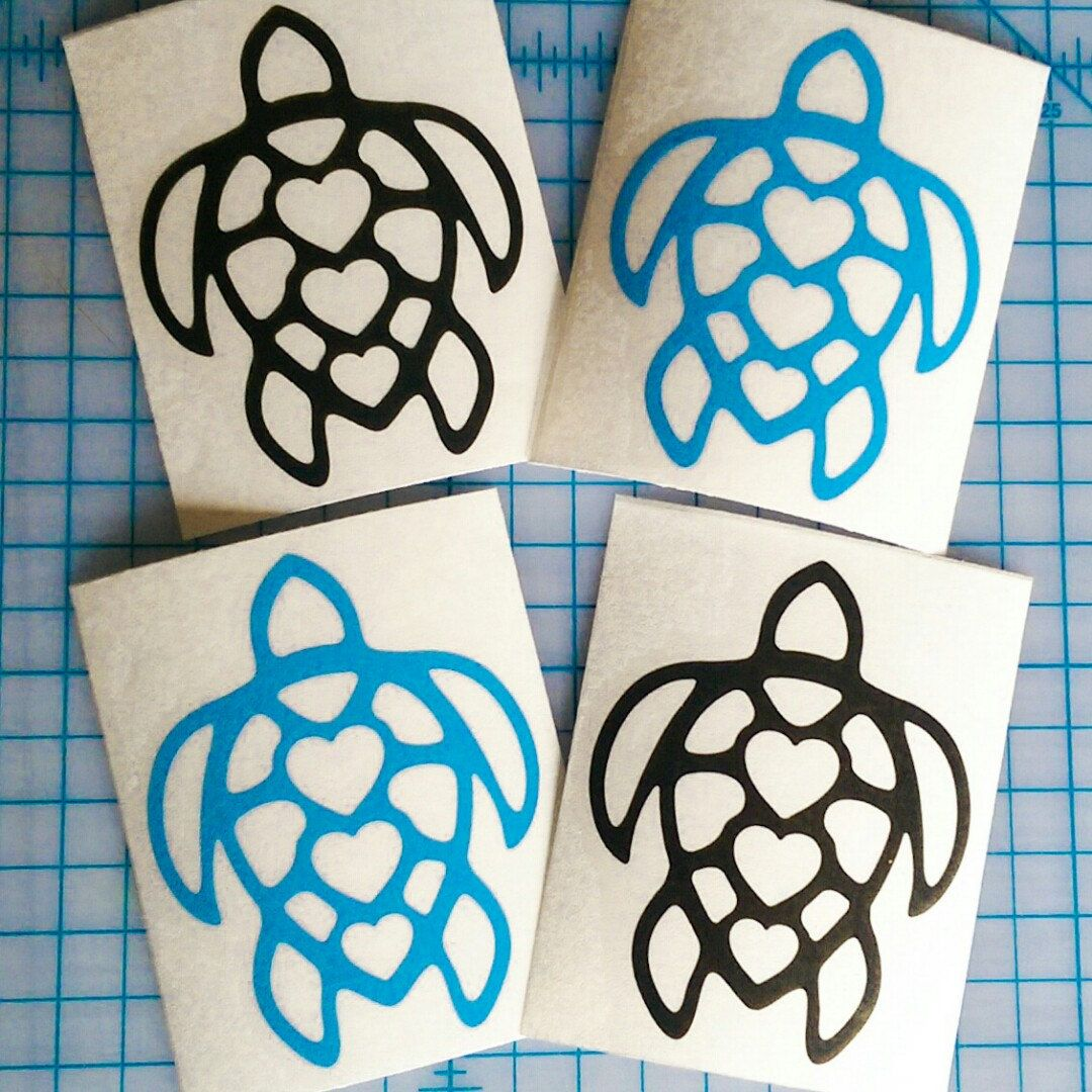 Sewardstreetstudios Shared A New Photo On Etsy Funny Vinyl Decals Car Decals Sea Turtle Decal [ 1080 x 1080 Pixel ]
