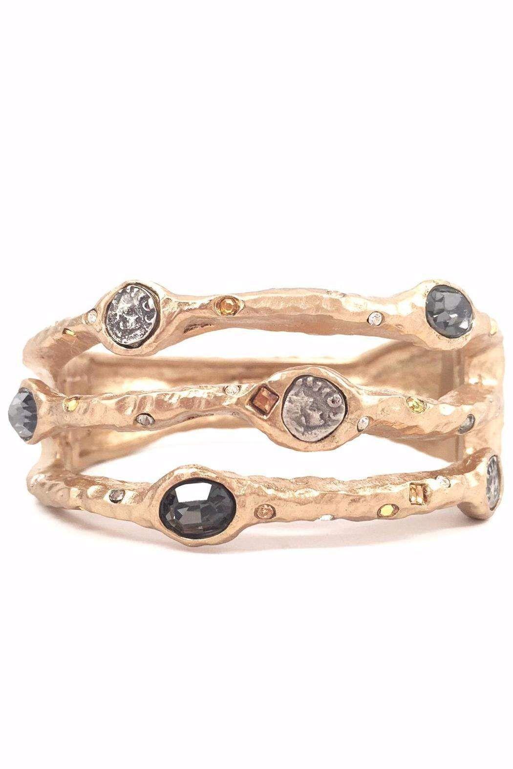 Tat gold bangle sprung hinges gold bangles and black diamonds