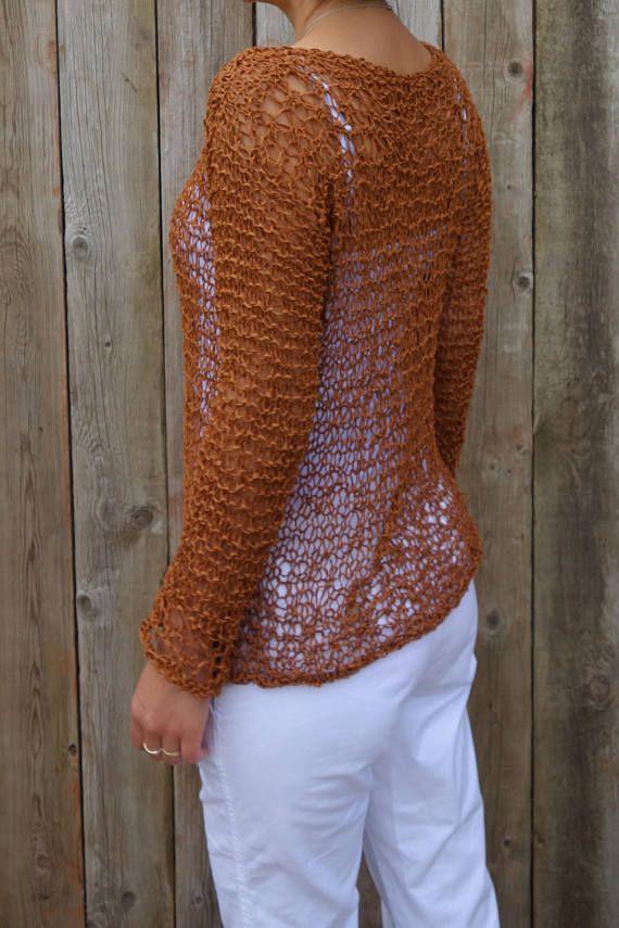 Sweater Knitting Pattern Positano Toploose Knit Boho Sweater