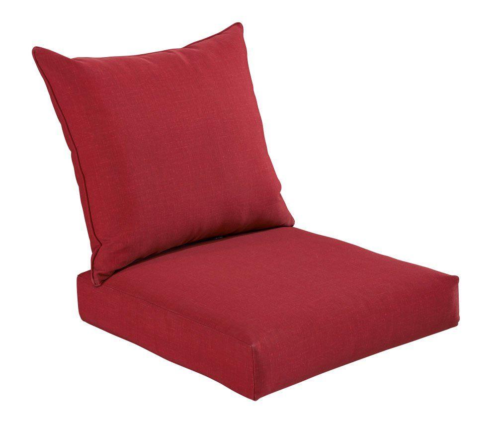 Bossima indooroutdoor rust red deep seat chair cushion