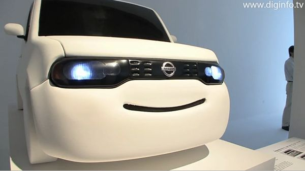 Nissan's Smiling Car Concept Turns Road Rage to Highway Happiness  ... see more at InventorSpot.com