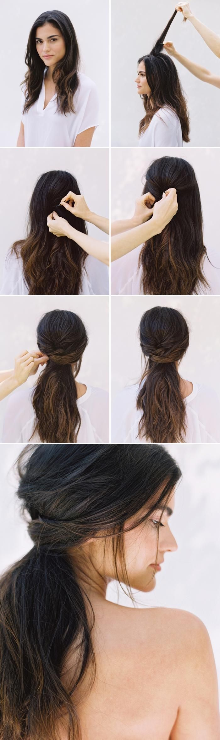 Diy half up half down wedding hair beaut pinterest romantic