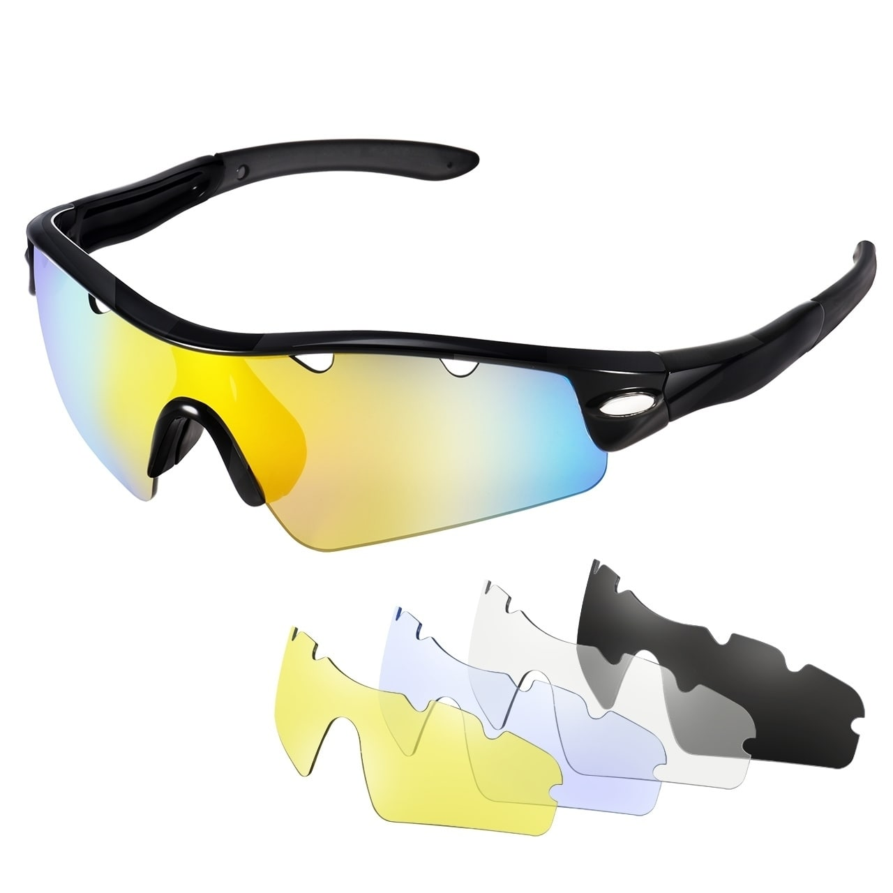 Cycling sunglass with 5 interchangeable lenses 1