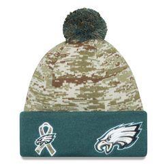 Men s New Era Camo Midnight Green Philadelphia Eagles 2015 Salute to Service  On Field Cuffed Knit Hat 4df5445ba