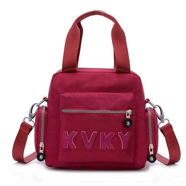 Women Nylon Casual Portable Waterproof Handbag Shoulder Bags Crossbody Bags Backpack