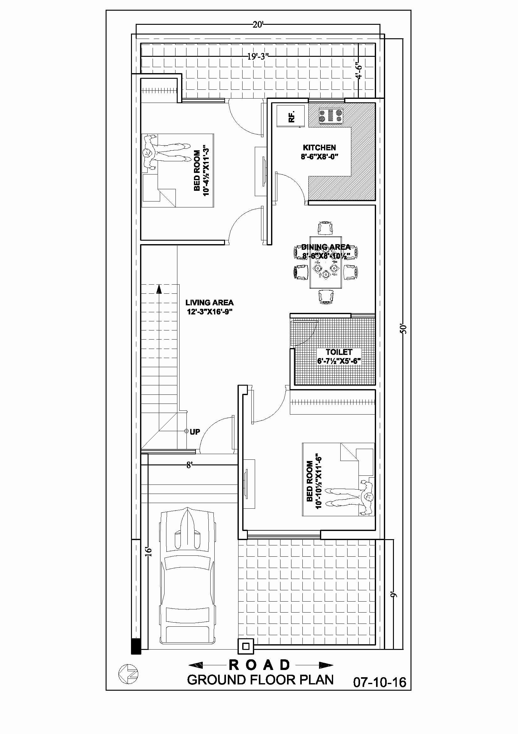 16 X 50 House Plans Best Of 20 50 Duplex House Floor Plan In 2020 20x40 House Plans Indian House Plans Duplex House Plans