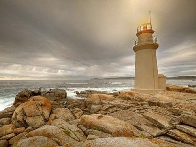 Muxia Lighthouse in Galicia, NW Spain