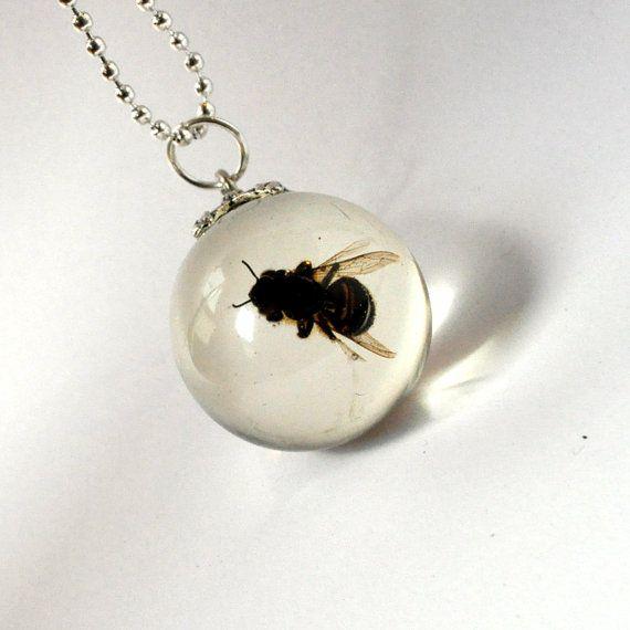 Insect jewelry wasp jewelry resin pendant wasp necklaces insect jewelry wasp jewelry resin pendant wasp aloadofball Choice Image