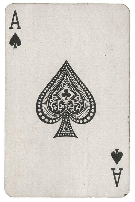 Playing Cards As De Picas As De Espadas Naipe