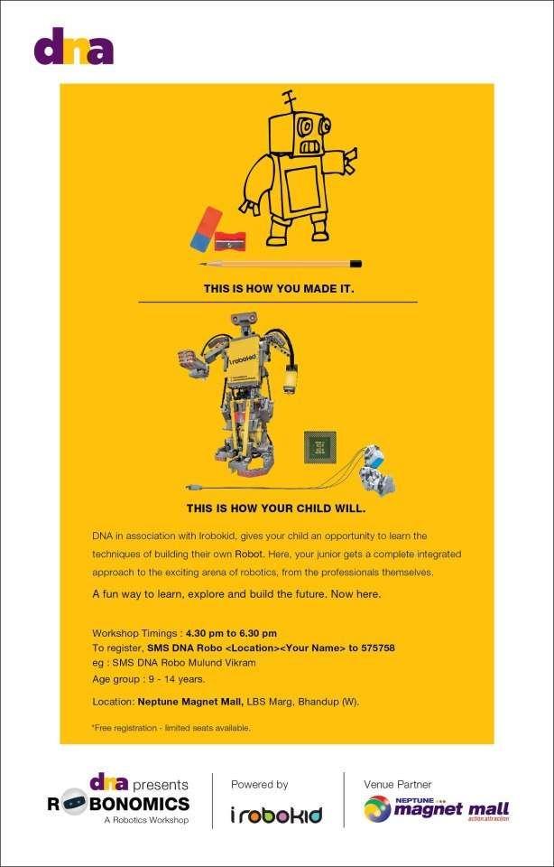 Robonomics A Robotics Workshop For Kids On 28 April 2013 At