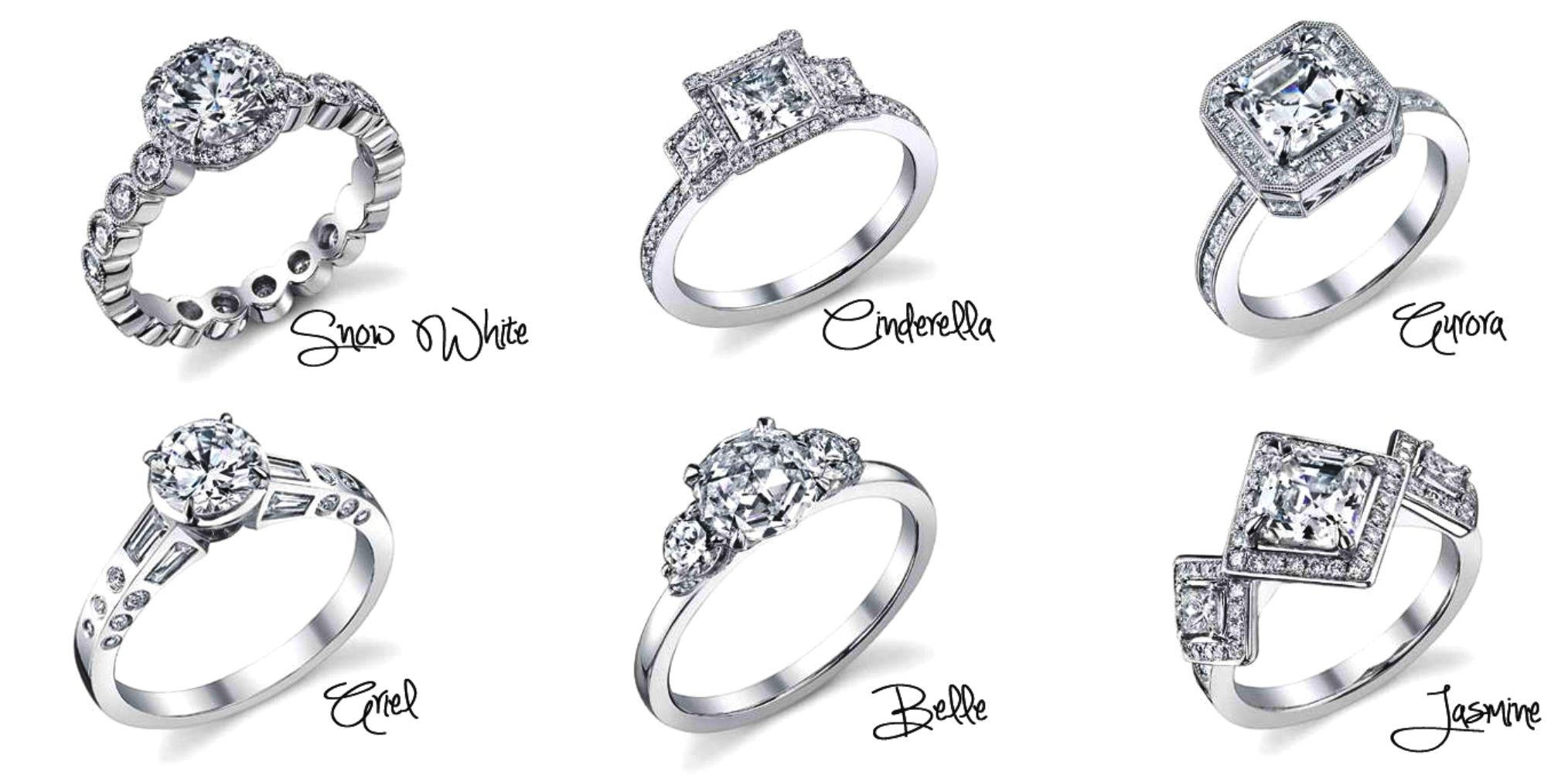 Disney princess engagement rings...I really only like