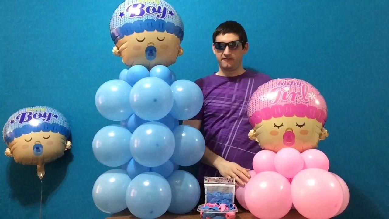 Large Baby Bottle Decoration Baby Shower Balloon Decor Dollar Store  Youtube  Balloon Art