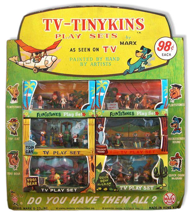 Like Toy Tv : Marx tinykins playsets hanna barbera had them all still