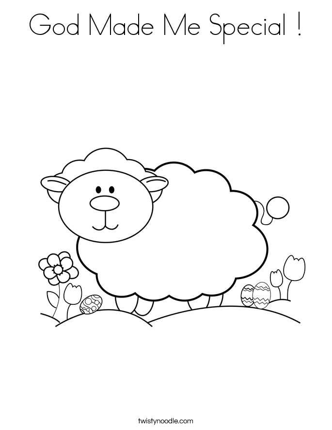 God Made Me Coloring Page