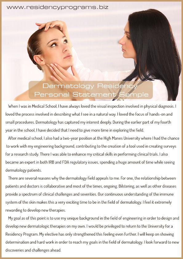 DermatologyResidencyPersonalStatementHelp  Residency Programs