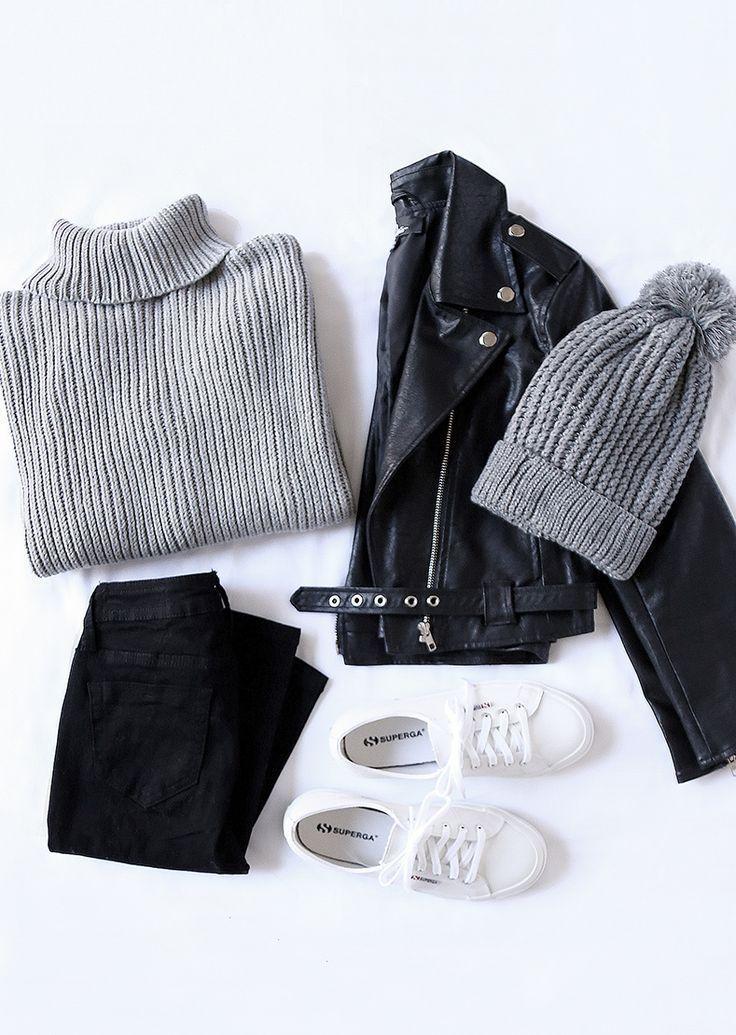 Photo of Rhythm Snowflake Gray turtleneck sweater