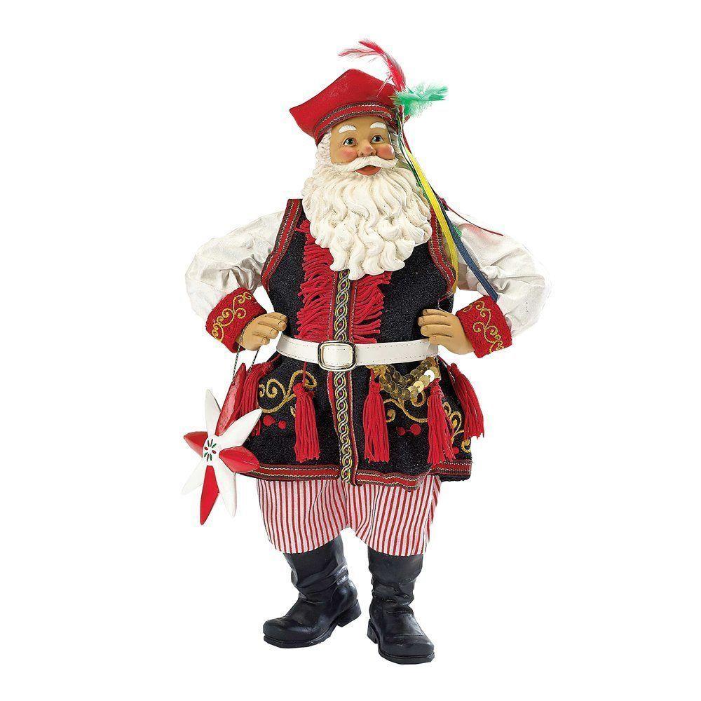 Kurt Adler Fabriche' Musical Polish Santa, 10-Inch #KurtAdler | Santa  figurines, Christmas collectibles, Santa