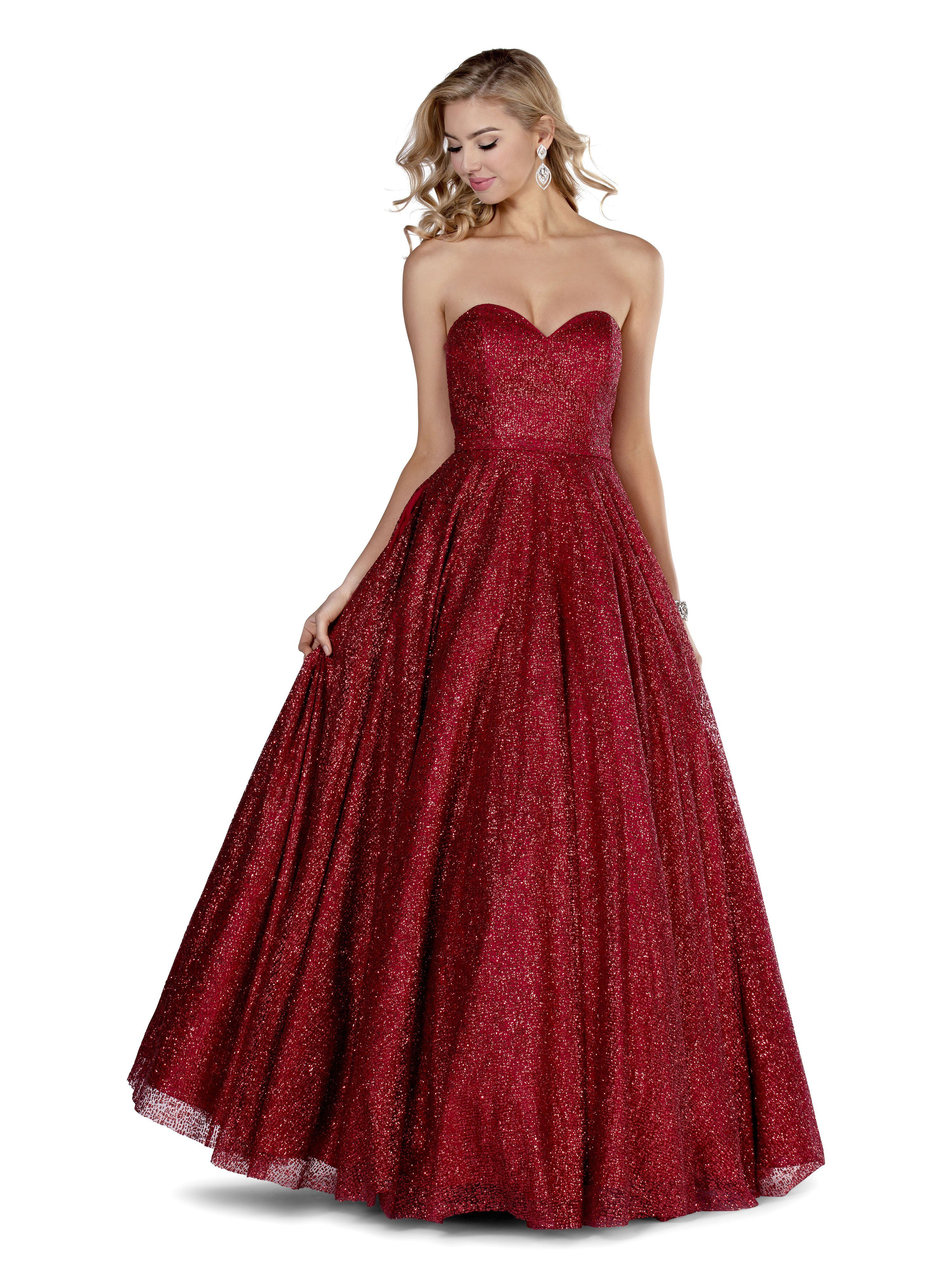 Pink Style 5804 Ball Gowns Red Ball Gowns Strapless Prom Dresses [ 4000 x 3000 Pixel ]