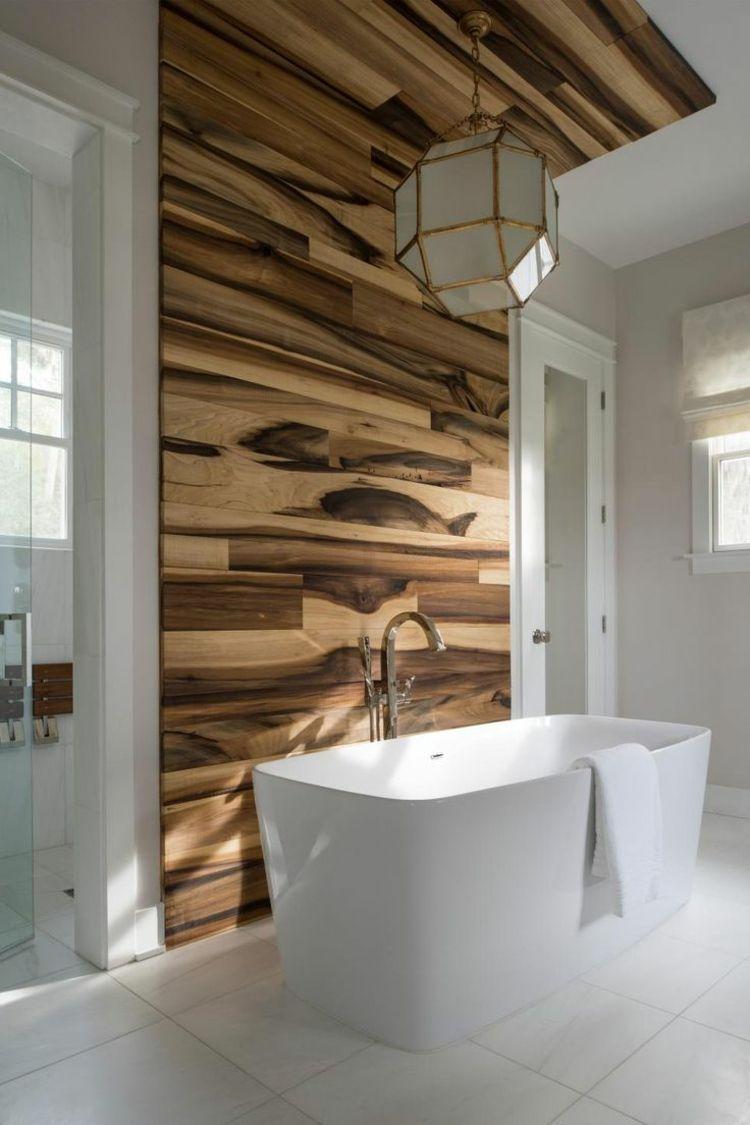Wandverkleidung Laminat Holz Badezimmer Idee Tipps Badewanne Modern Kleines Badezimmer Umgestalten Badezimmer Renovieren Modernes Badezimmer