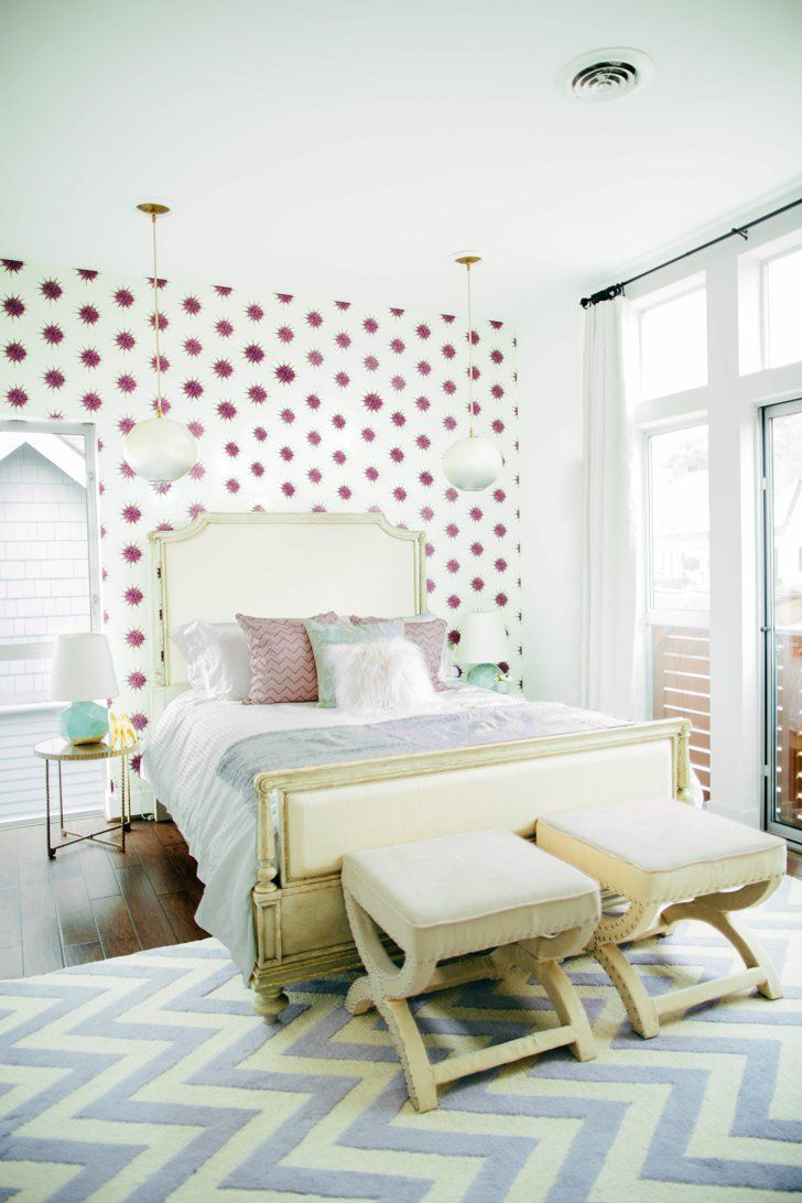 7 Things to Do Before You Put Up Your Wallpaper | Feminine bedroom ...