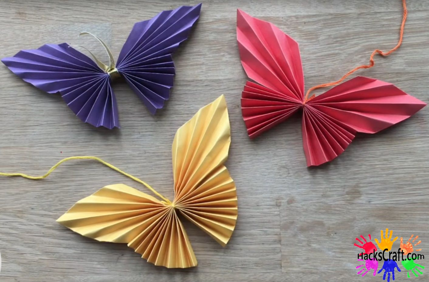 Make a Rainbow of Origami Butterflies :: Origami Butterfly | 928x1412